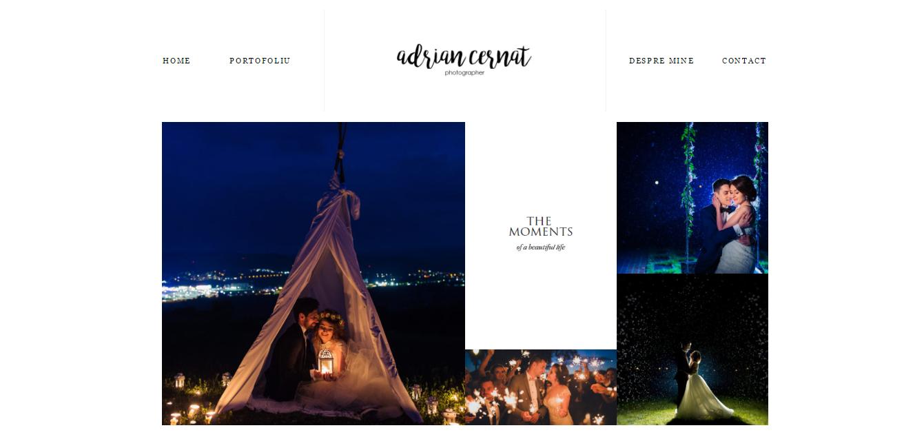 OGLAS - Creare site prezentare portofoliu fotograf - Web Design